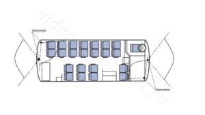 Установка видеонаблюдения в автобус