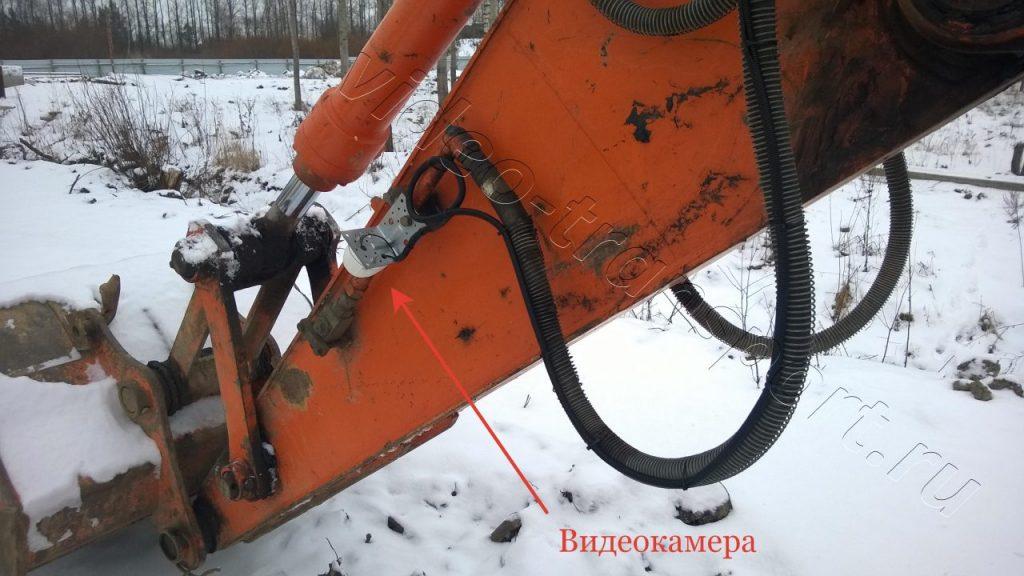 Видеокамера на стреле экскаватора