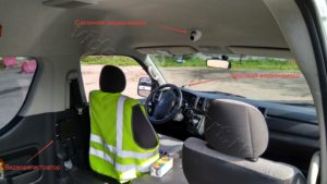 Установка видеонаблюдения в микроавтобусе