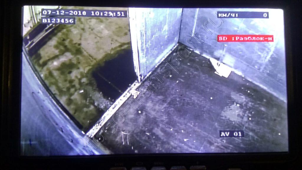 Видеонаблюдение на грузовике