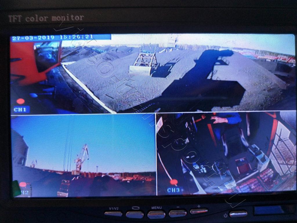 Изображение с камер на портальном кране