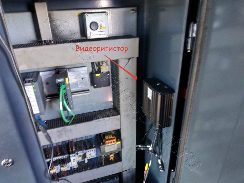 Расположение видеорегистратора на портальном кране
